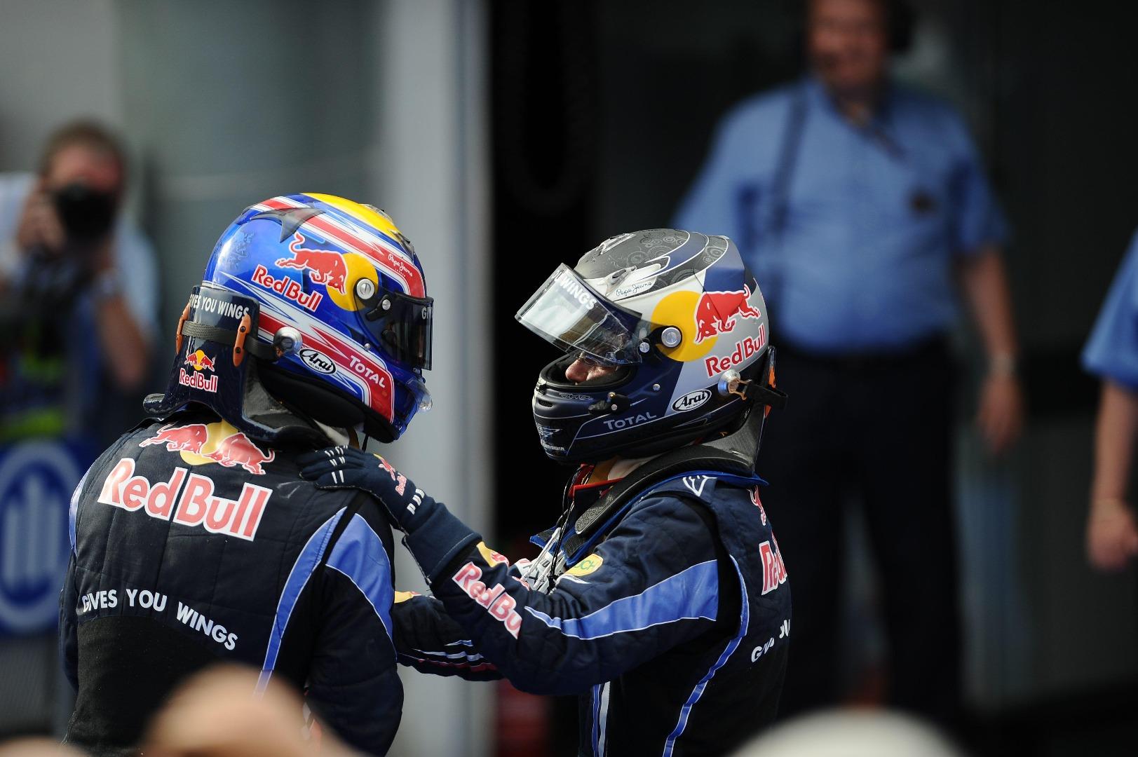 Sebastian Vettel e Mark Webber