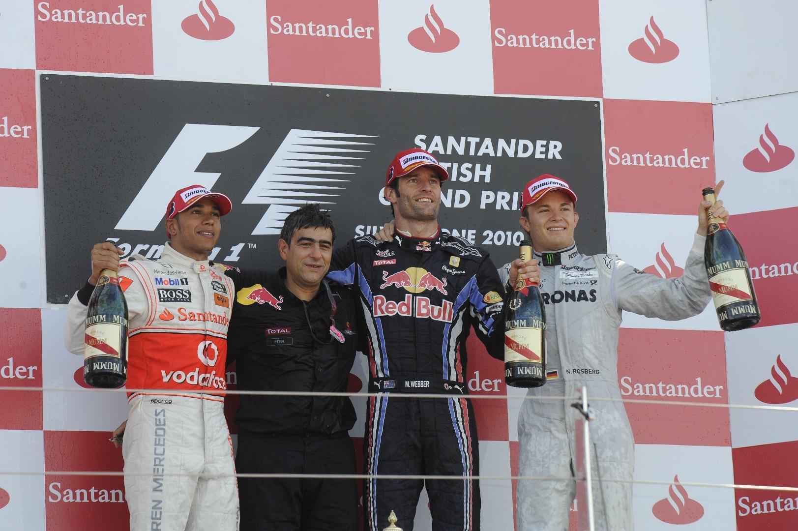 Mark Webber, Lewis Hamilton, Nico Rosberg