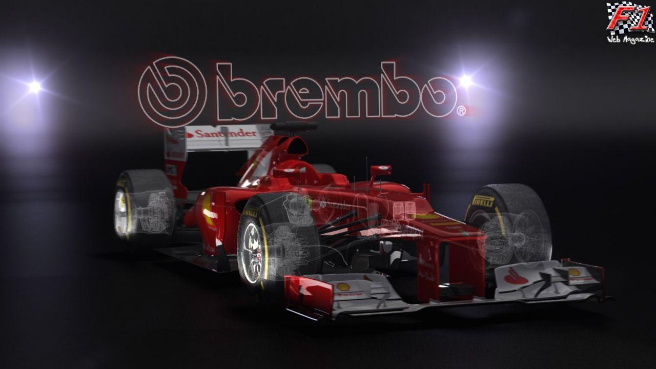 L'impianto frenante di una monoposto di F1