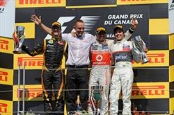Hamilton conquista il settimo podio in sette Gp - Gp Canada - Podio