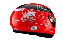 Schumacher  frase d'addio sul casco - Casco