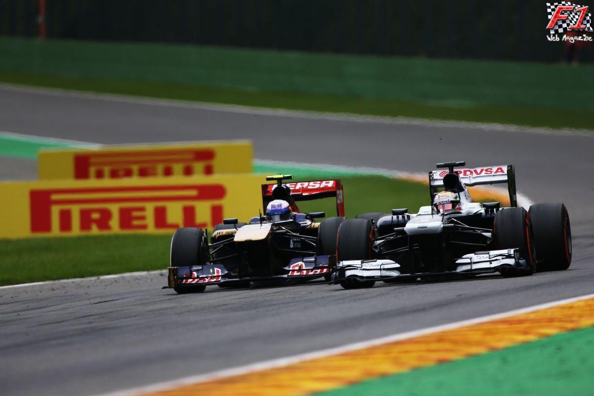 Gp Belgio 2013 - Maldonado e Ricciardo