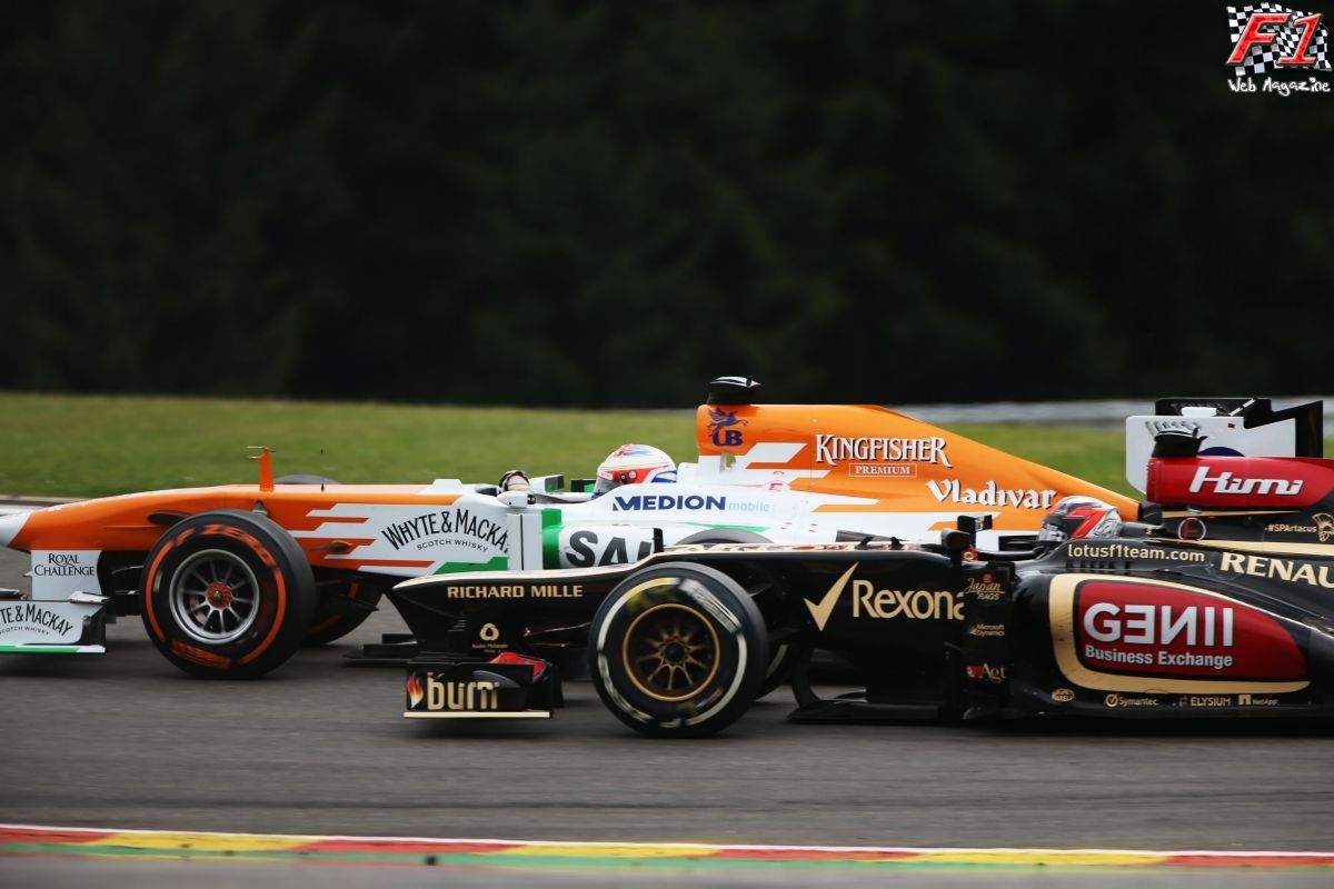 Gp Belgio 2013 - Raikkonen e Di Resta