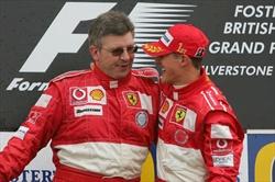Ross Brawn e Michael Schumacher in Ferrari