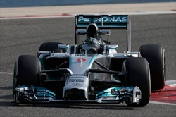 Hamilton - Test in Bahrain