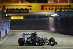 Gp Singapore 2014 - Qualifiche - Lewis Hamilton Mercedes AMG