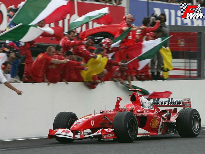 L'ultima vittoria Ferrari a Suzuka nel 2004