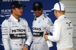 Gp Giappone 2014 - Post Qualifiche - Rosberg, Hamilton, Bottas