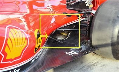 Il fondo della Ferrari SF16-H è scavato