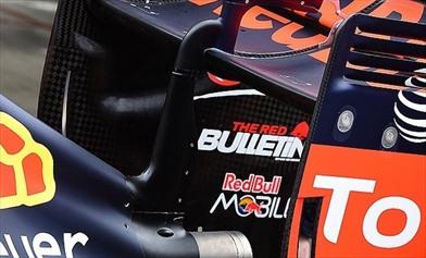 Red Bull modifica l'endplate dell'ala posteriore