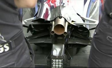 La Toro Rosso modifica il flap mobile dell'ala posteriore