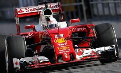 Vettel a bordo della sua monoposto