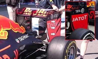 La Red Bull continua ad evolvere l'ala posteriore