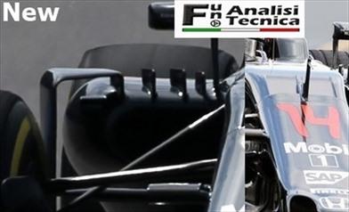 La McLaren MP4-31 con novità ai deviatori di flusso