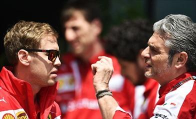 Furia Vettel! Le parole di Arrivabene. - Maurizio Arrivabene e Sebastian Vettel