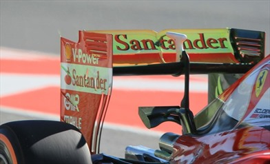 Ecco la nuova ala posteriore della Ferrari SF16-H