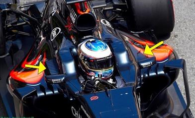 Gp Monaco: Mclaren con sfoghi di raffreddamento asimmetrici