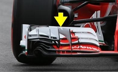 Gp Canada: Ferrari re-introduce il piccolo taglio a 'V' - Gp Canada: Ferrari re-introduce il piccolo taglio a 'V'