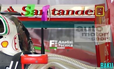 Nuova ala posteriore per la Ferrari