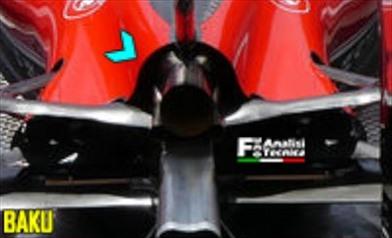 Gp Baku: la Ferrari allarga il cofano motore