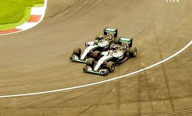 Collisione Rosberg Hamilton