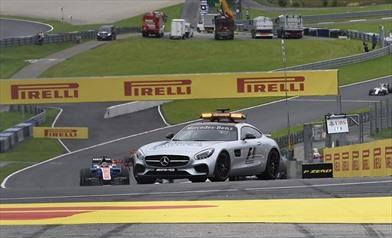 Gp Austria 2016 - Safety car dopo l'incidente di Vettel