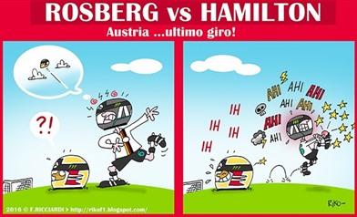 Rosberg vs Hamilton - http://rikof1.blogspot.it/2016/07/football.html