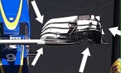 Gp Belgio: Sauber con muso corto e nuova ala anteriore