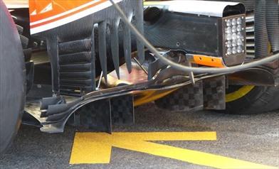 Gp Belgio: la Ferrari con una modifica al diffusore