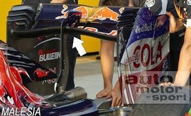 Gp Malesia: arriva l'ala a cucchiaio rovesciato sulla Toro Rosso