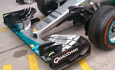 Gp Malesia: ecco il pacchetto aerodinamico della Mercedes W07 - Gp Malesia: ecco il pacchetto aerodinamico della Mercedes W07
