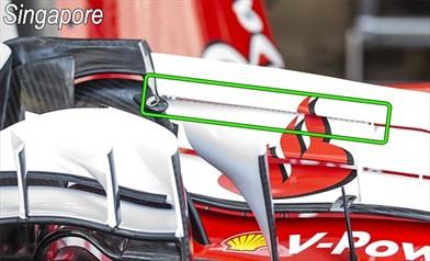 Gp Gappone: la Ferrari vuole riprovare l'ala anteriore con i denti di sega