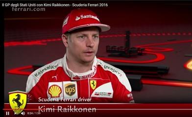 Video: Il Gp degli Stati Uniti con Kimi Raikkonen