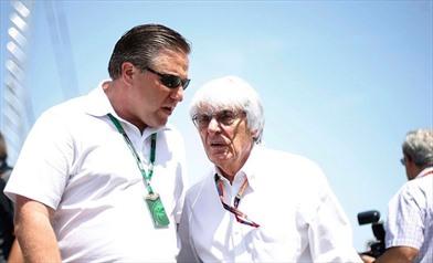 Zak Brown e Bernie Ecclestone