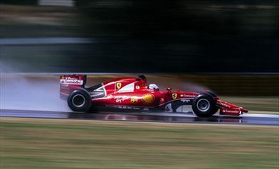 Vettel a Fiorano prima dell'incidente