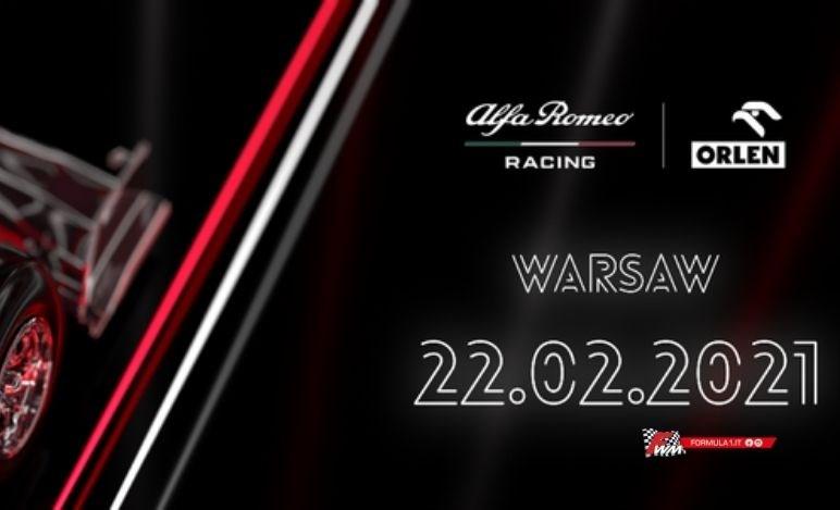 Calendario presentazioni monoposto F1: Alfa Romeo C41