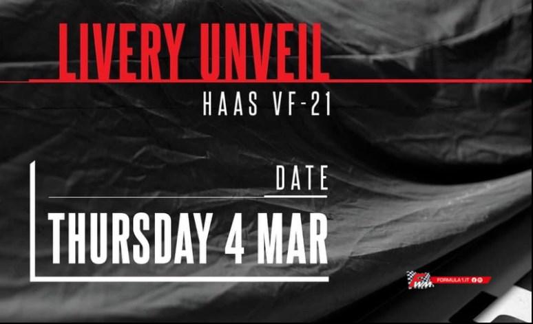 Calendario presentazioni monoposto F1: Haas VF21