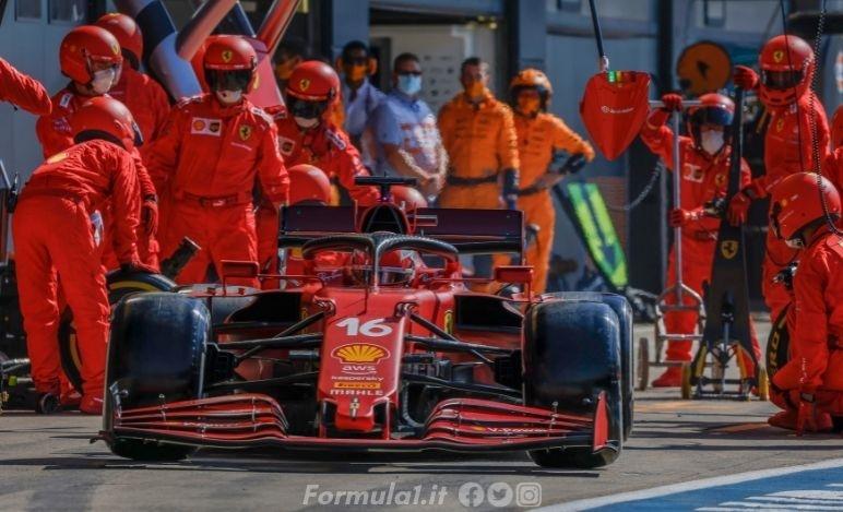 Dopo la sosta Leclerc ha rallentato per fuel saving