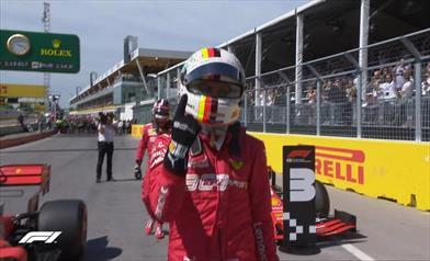 E all'improvviso (finalmente) il lampo di Vettel. Pole in Canada - E all'improvviso (finalmente) il lampo di Vettel. Pole in Canada