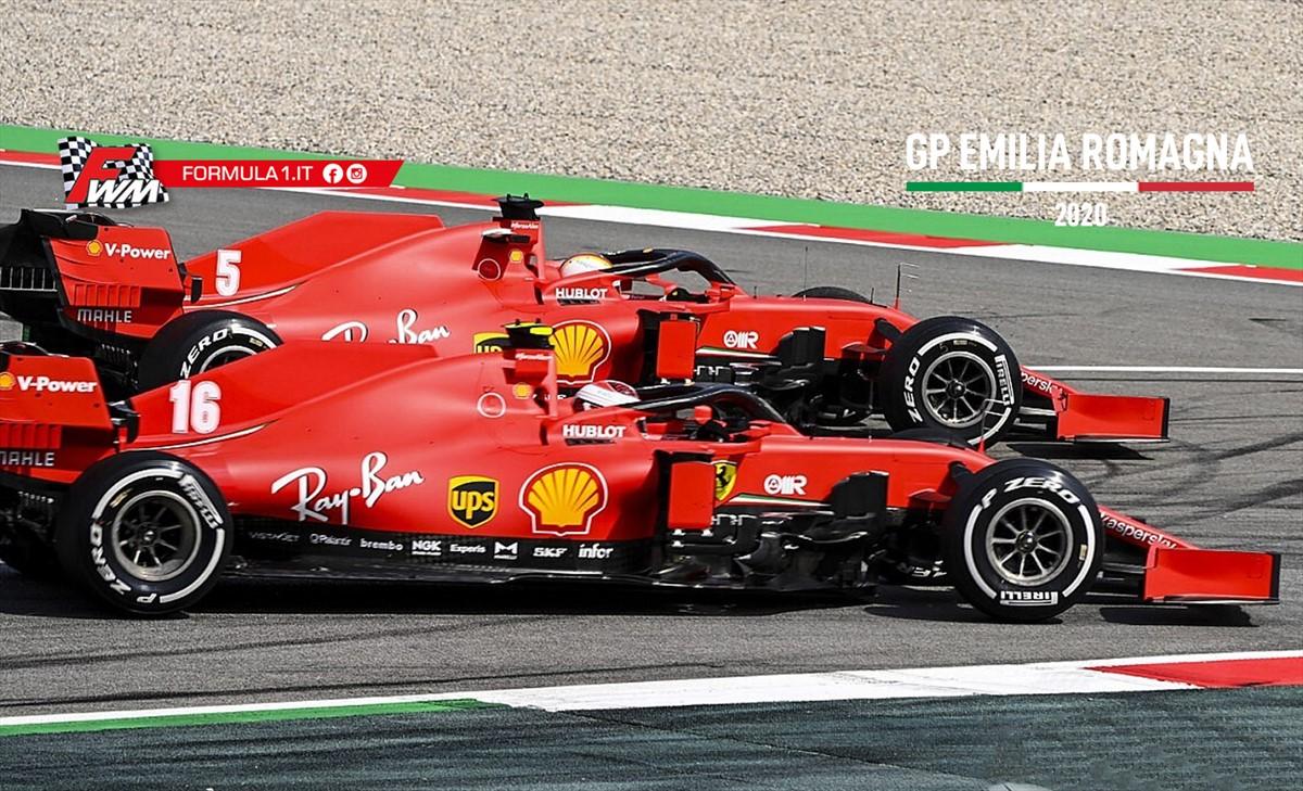 Ferrari rossa come il gambero, ad Imola passi indietro.
