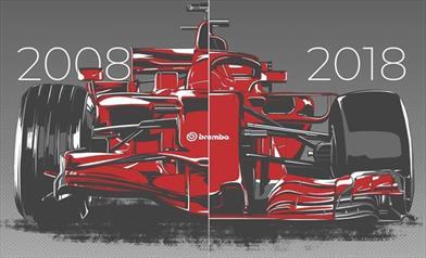FORMULA 1 - F1 2008 Vs F1 2018 - Gli spazi di frenata sono diminuiti del 22