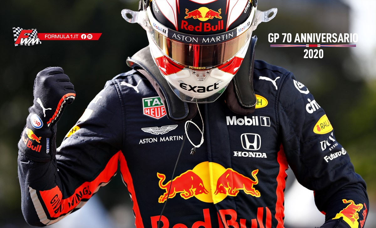 Gp 70 Anniversario: finalmente Max Verstappen, splendida vittoria Red Bull