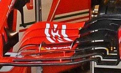 GP ABU DHABI - FERRARI SF71H: nei box c'è un'ala anteriore pensata per il 2019