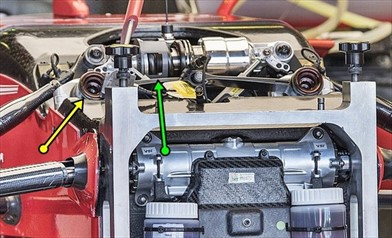 GP AUSTRALIA: la sospensione anteriore della Ferrari non è totalmente idraulica - GP AUSTRALIA: la sospensione anteriore della Ferrari non è totalmente idraulica