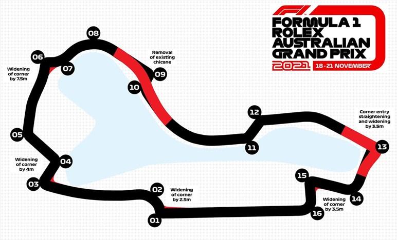 Gp Australia - Lavori sul circuito di Albert Park, sarà 5 secondi più veloce
