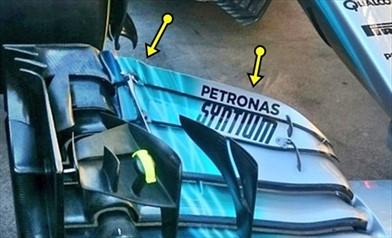GP AUSTRALIA: Mercedes modifica l'ala anteriore e porta una T Wing a 3 elementi - GP AUSTRALIA: Mercedes modifica l'ala anteriore e porta una T Wing a 3 elementi