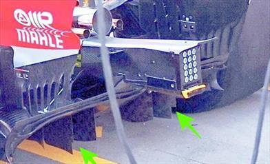 GP AUSTRALIA - MERCEDES W09 - FERRARI SF71H: confermate le novità di dettaglio sui propri diffusori