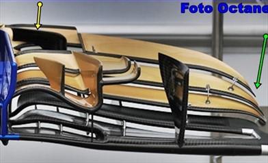 GP AUSTRALIA: prime novità sull'ala anteriore della Sauber C36