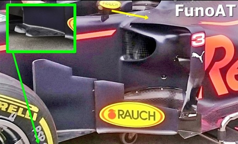 GP AUSTRALIA: Red Bull RB13 con nuovi bargeboards