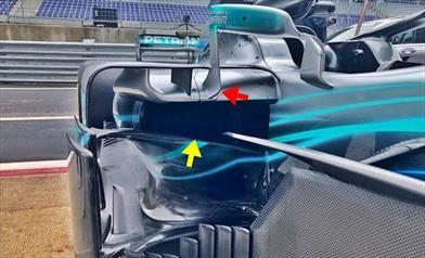 GP AUSTRIA - MERCEDES W09: aggiornamento aerodinamico vale un decimo e mezzo